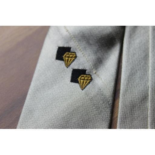 Vintage 1940s/1950s Gibbeys Grey Slub Silk Skinny Tie