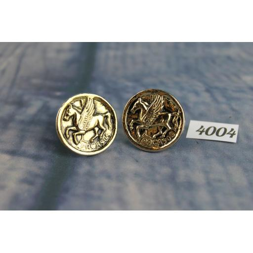 Vintage Large Gold Metal Cufflinks Pegasus