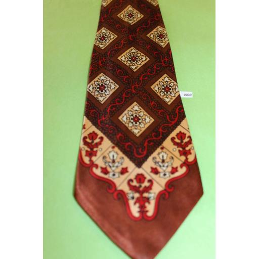 "Vintage 1940s/50s Hollyvogue California Tie 3.5"" Lindyhop/Swing/Zoot Suit"
