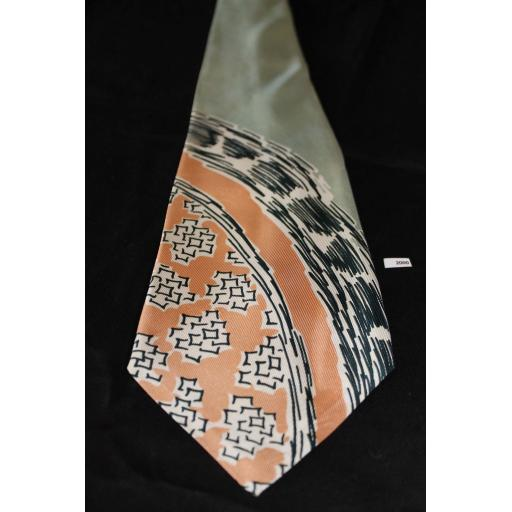 "Superb Vintage 1940s/50s Arrow Mint & Salmon Tie 4"" Wide Lindyhop/Swing/Zoot Suit/Rat Pack"