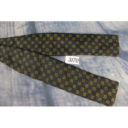 Vintage Welch Margetson London English Self Tie Adjustable Straight End Bow Tie Squares & Dots