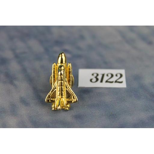 Vintage Unusual Gold Metal Space Shuttle Tie Pin TP3122