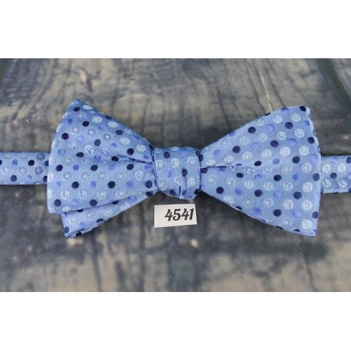 Superb Stafford Blue & Navy Polka Dot Pre-Tied Bow Tie Adjustable to Fit All Collar Sizes