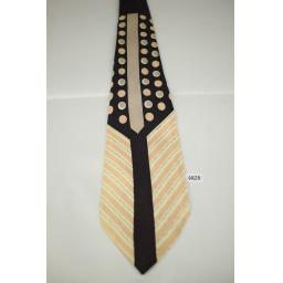 Vintage 1940s / 50s Pinks and Brown Spots Stripes Swing Tie