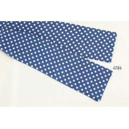 "Vintage Self-Tie Bow Tie Polka Dot Fixed 14"" Collar Batwing"