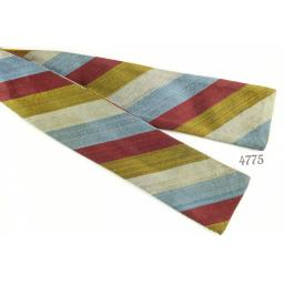 Skinny Straight Self-Tie Vintage Silk Bow Tie Multi Colour Striped
