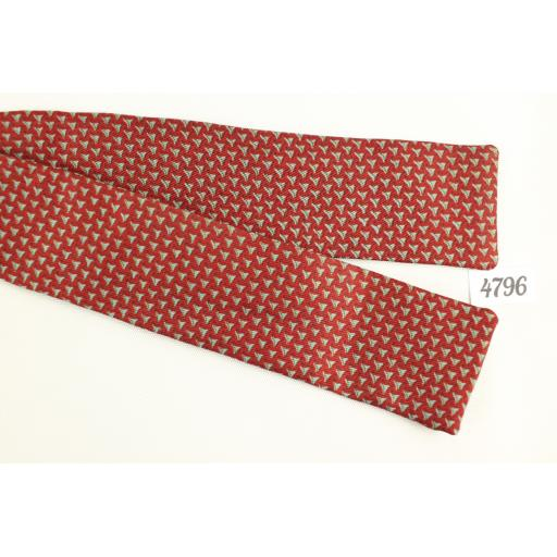Arrow Skinny Straight Self-Tie Vintage Bow Tie Paddle Style Burgundy Grey