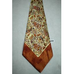 Ultra Wide Jacquard Paisley Belly Warmer Vintage Swing Tie 1940s / 50s