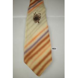 Louvre Cravat Hand Painted Blurred Stripes Vintage Swing Tie 1940s / 50s