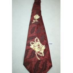 Shops For Men Jacquard Floral Vintage Swing Tie 1940s / 50s