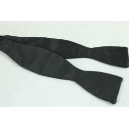 Vintage Akco Black Narrow Thistle Self-Tie Bow Tie Adjustable