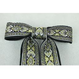 Vintage Style New Silver Gold Black Clip On Western/Cowboy/Kentucky Bow Tie
