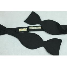 Vintage Akco Black Thistle Self-Tie Bow Tie Fixed Length 15""