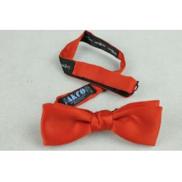 Akco Bow Tie Vintage Pre-tied Red Satin Adjustable