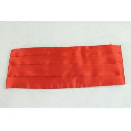 Frederick Theak Bright Red Satin Cummerbund