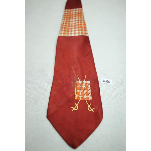 Vintage Esquire Mr T Tartan Swing Tie 1940s / 50s Burgundy