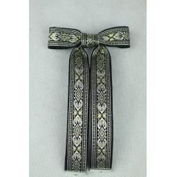 Vintage Style New Silver & Gold Clip On Western/Cowboy/Kentucky Bow Tie