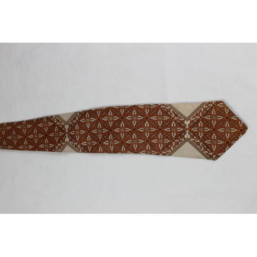 Vintage Haband Quatrofoil Repeat Pattern Tie 1940s / 50s