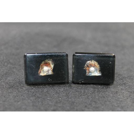 Vintage Pearls in Lucite Cufflinks