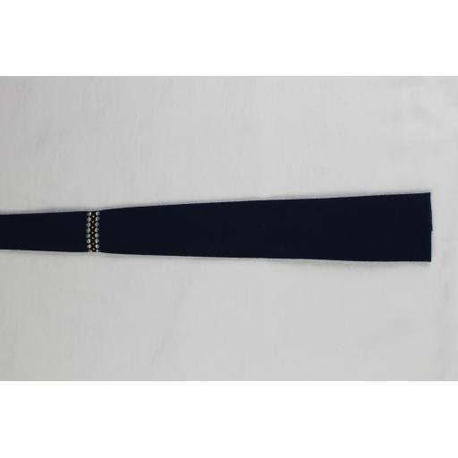 Vintage Superba Navy Square End Skinny Tie 1940s 1950s