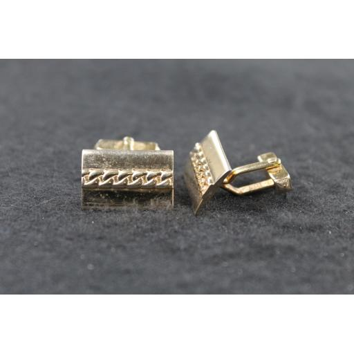 Vintage Swank Oblong Chain Design Cufflinks