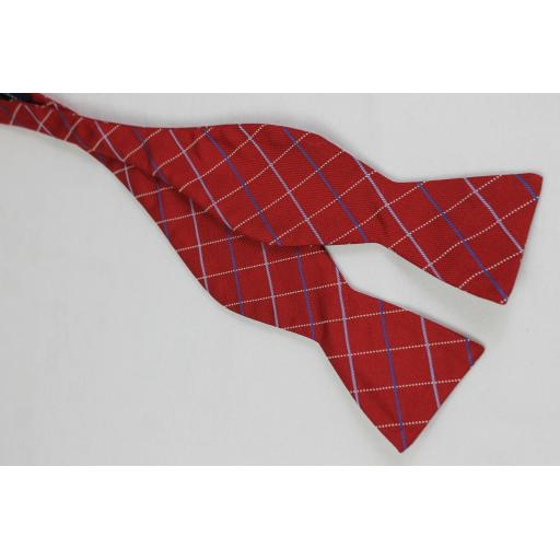 Saddlebred Red Silk Blend Self Tie Straight End Thistle Bow Tie
