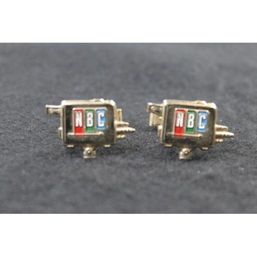Vintage Rare NBC TV Camera Cufflinks
