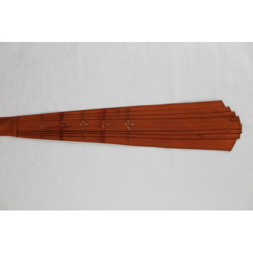 Vintage Haband Rare Pleated Copper Colour Tie 1930s / 40s