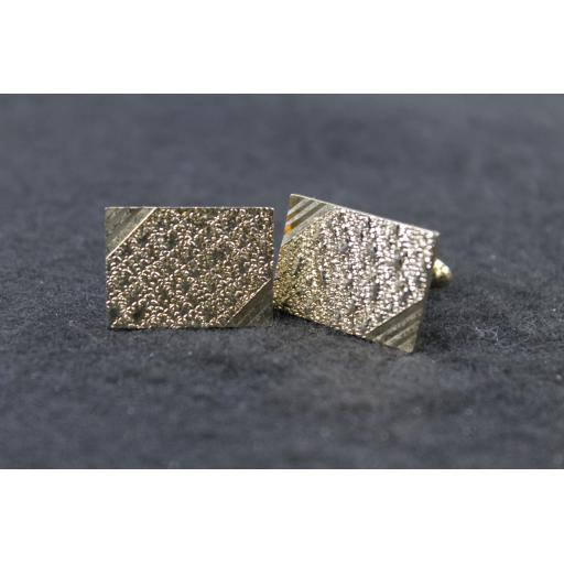 Vintage Oblong Rough Shiny Finish Cufflinks