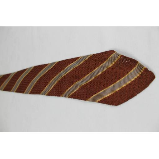 Vintage Arrow Striped Open Weave Fabric Tie 1930s / 40s