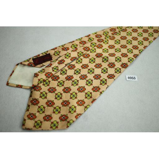 """Vintage 1960s Lytton's Repeat Pattern Swing Tie 4"""" Wide"""