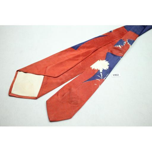 """Vintage 1950s/60s Fashion Craft Cravat Swing Tie 4"""" Wide"""